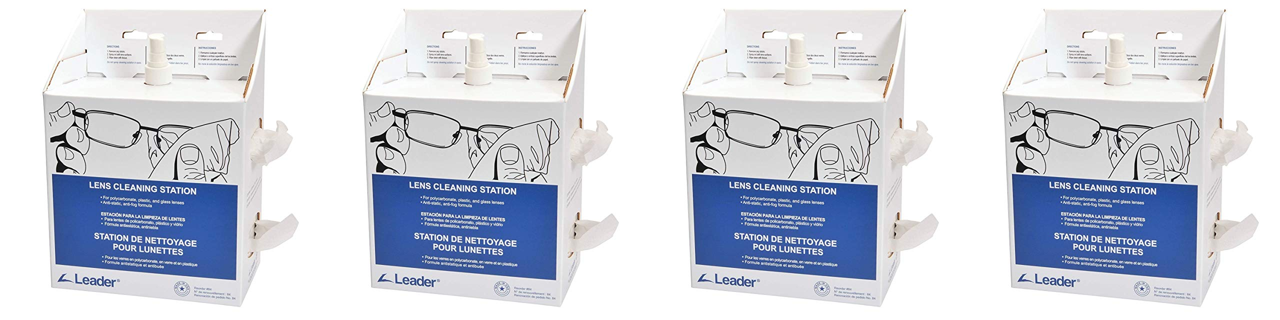 C-Clear 84 Lens Cleaning Disposable Station, Large (Fоur Paсk)