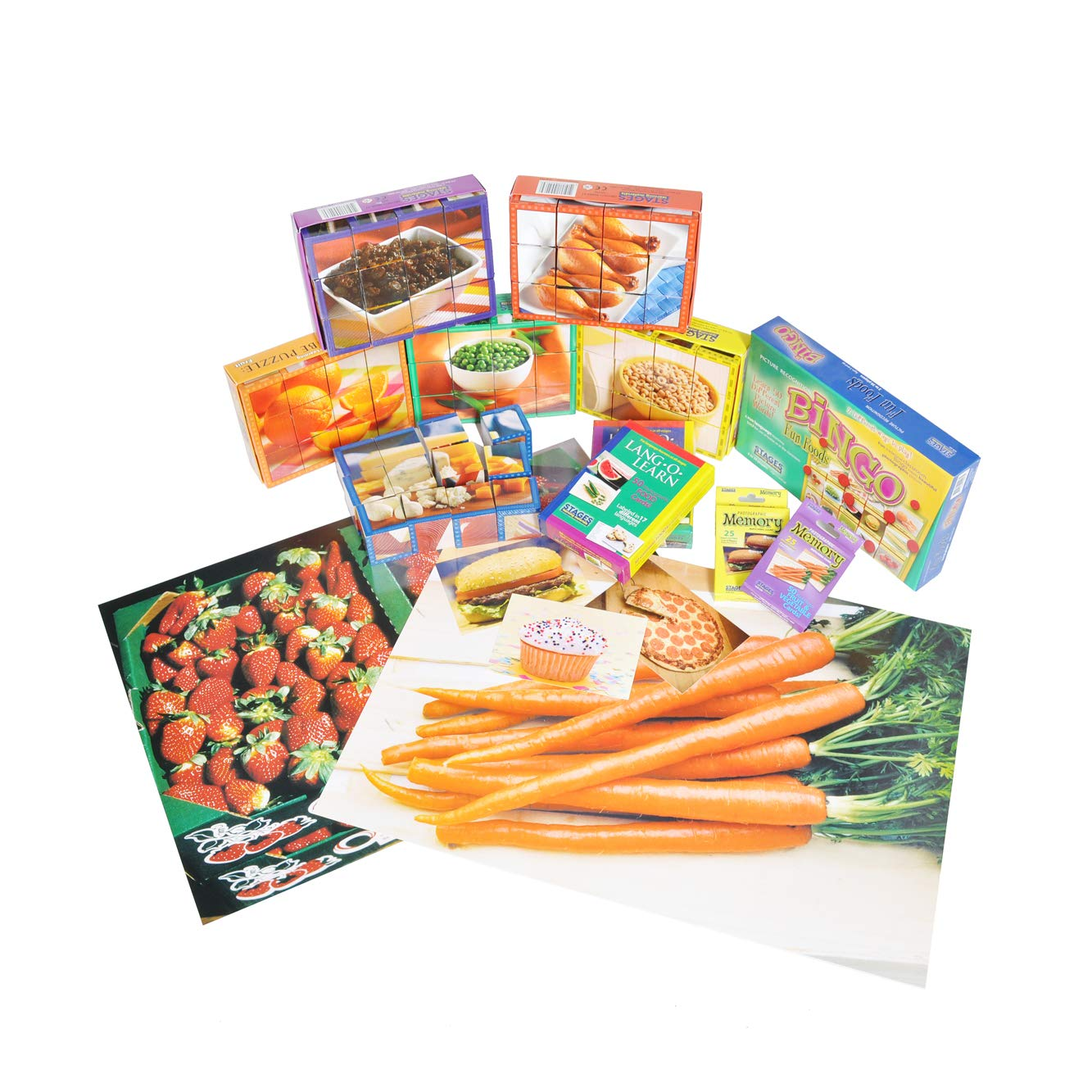 Stages Learning Materials: Nutrition Themed Kit for Preschool and Early Childhood Learning Centers