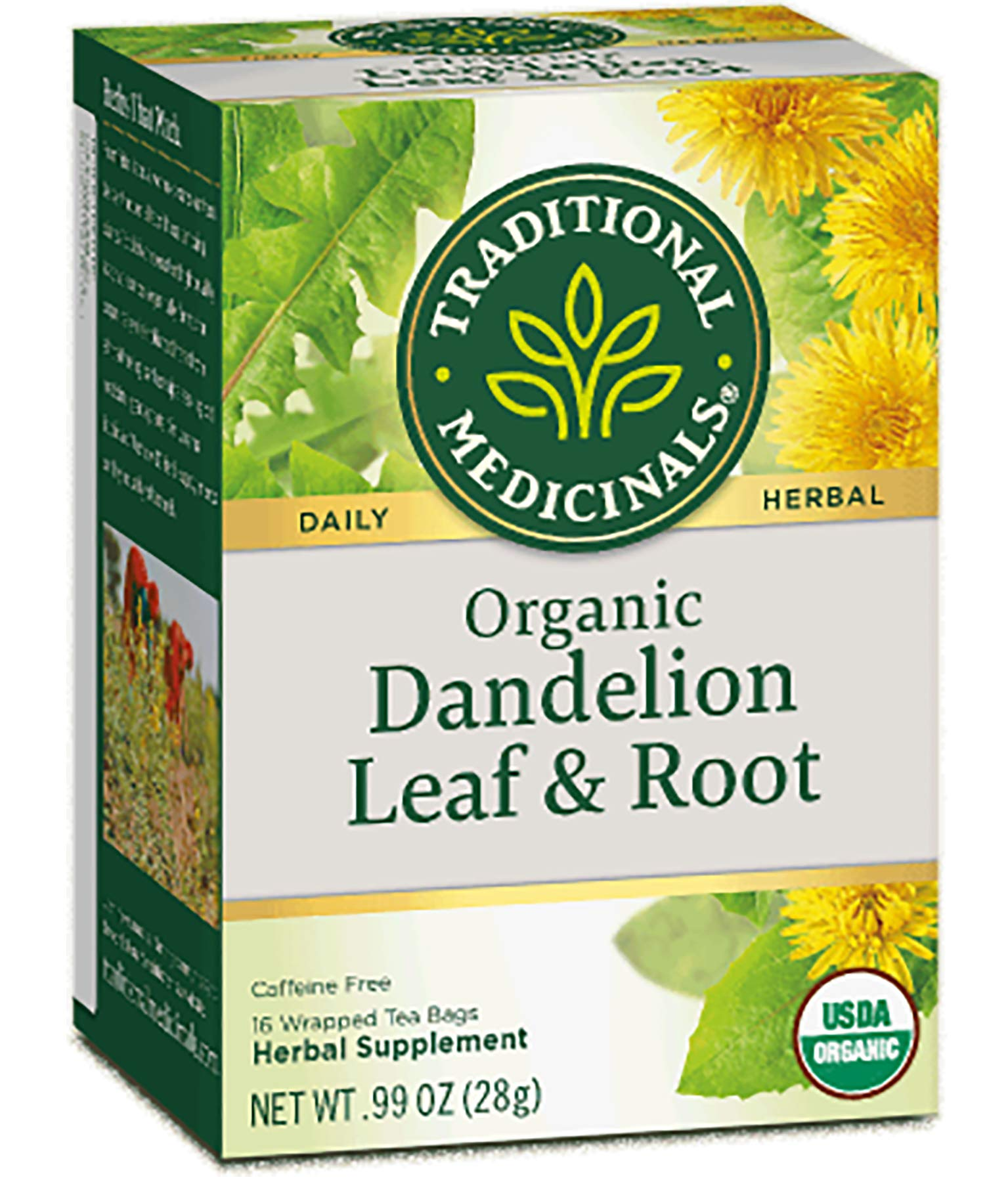 Traditional Medicinals Dandelion Leaf & Root Herbal Teas 16 Ea (Pack of 6) by Traditional Medicinals