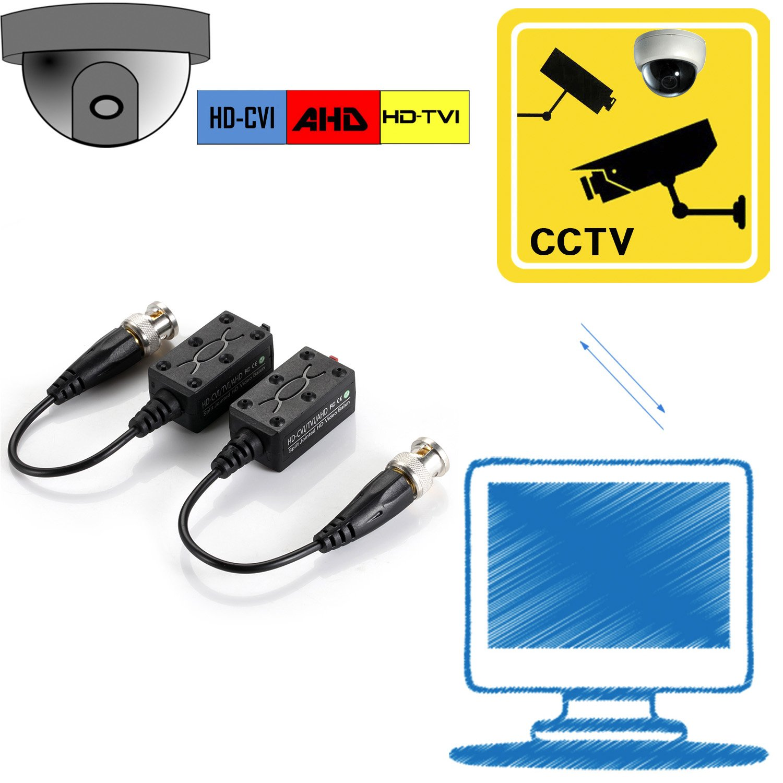 VIMVIP [Upgraded] 4 Pairs Split Joint Mini CCTV BNC HD-CVI/TVI/AHD Passive Video Balun Transceiver by VIMVIP (Image #5)