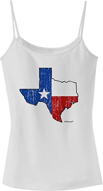 TooLoud Texas Love Distressed Design Muscle Shirt