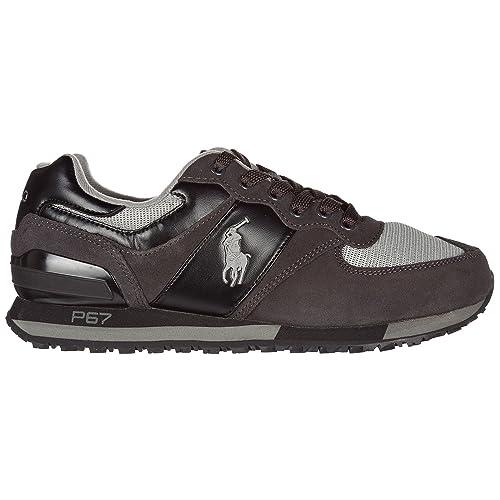 wholesale dealer 257d1 9ca51 Ralph Lauren Herrenschuhe Herren Wildleder Sneakers Schuhe Grau EU 45  809668429001