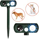 Dog Repellent, Outdoor Solar Powered and Weatherproof Ultrasonic Dog/Cat/Mosquito Repeller … (Upgrade)