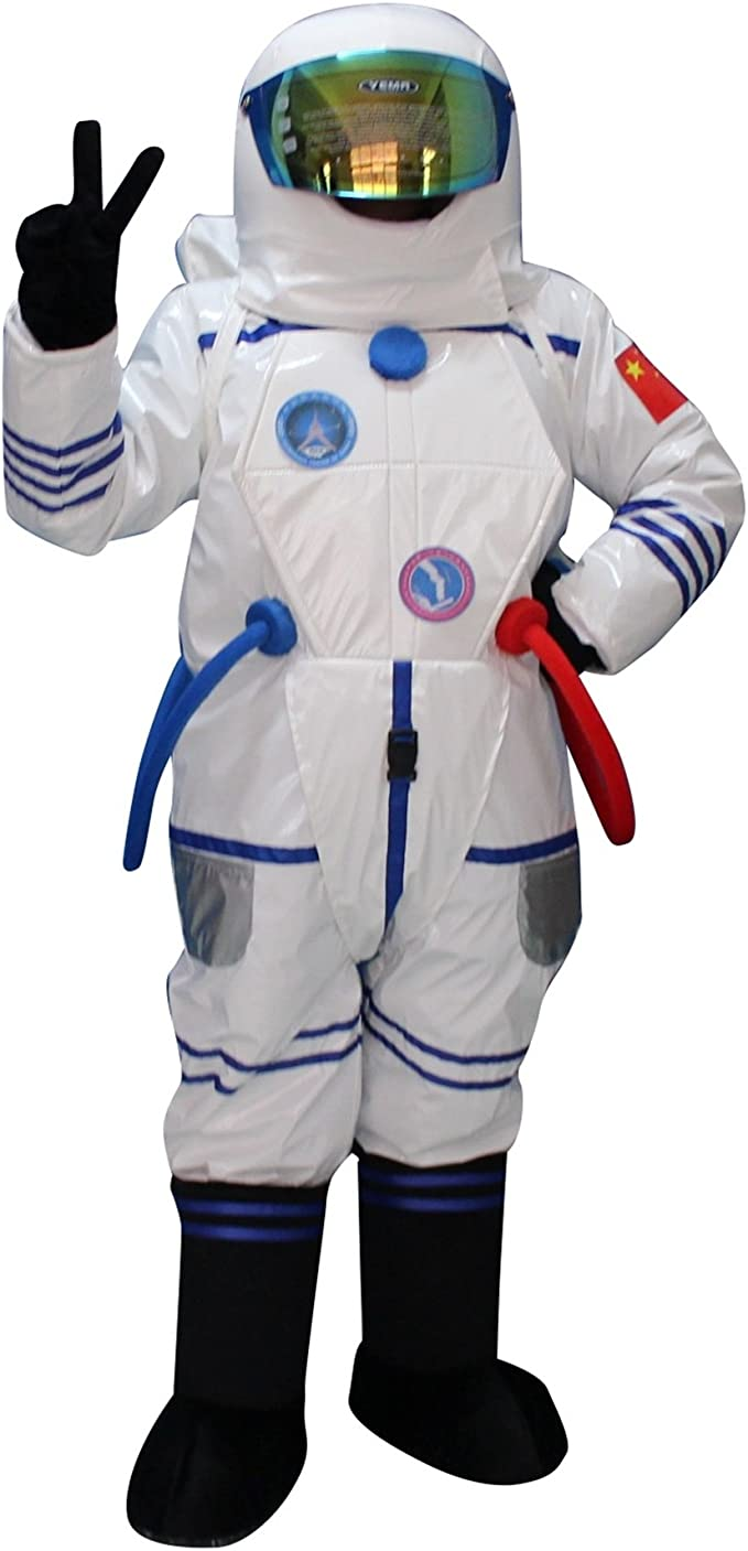 2019 Cosplay Adult Space Suit Mascot Costume Party Game Dress Outfit Halloween