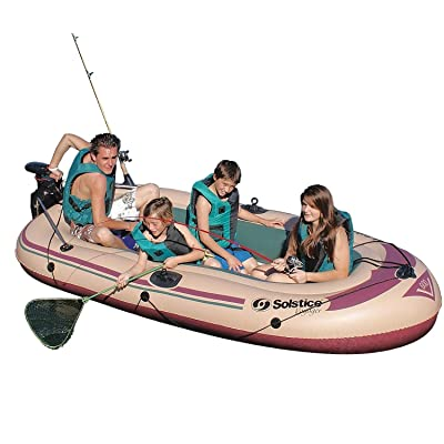 "Swim Central 133"" Inflatable Voyager Boat – 6 Persons: Garden & Outdoor"