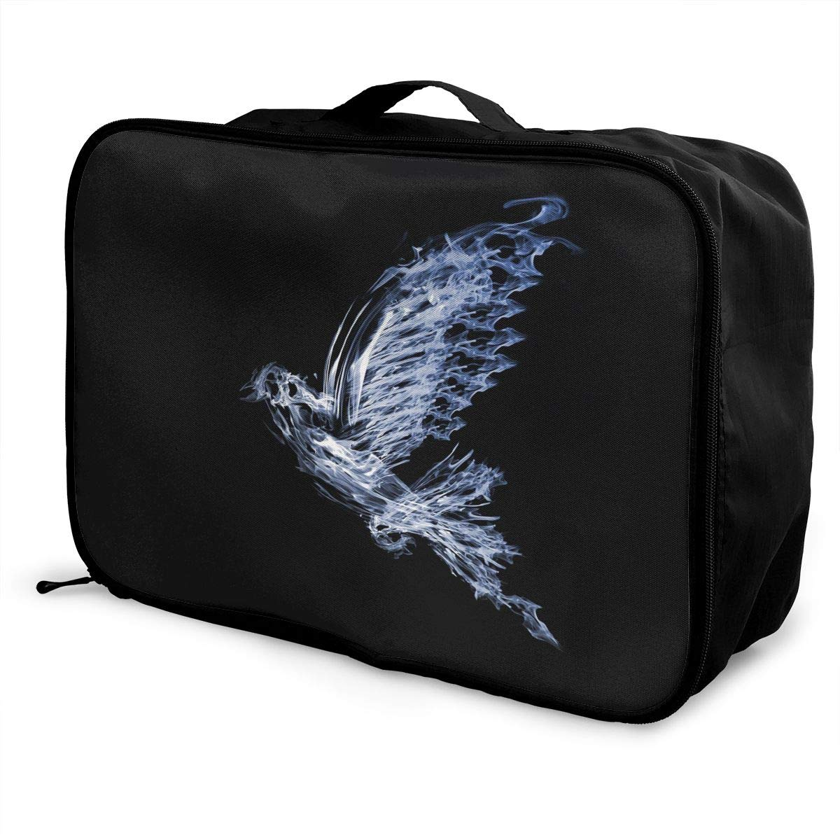 Travel Luggage Duffle Bag Lightweight Portable Handbag Blue Smoke Dove Painting Large Capacity Waterproof Foldable Storage Tote