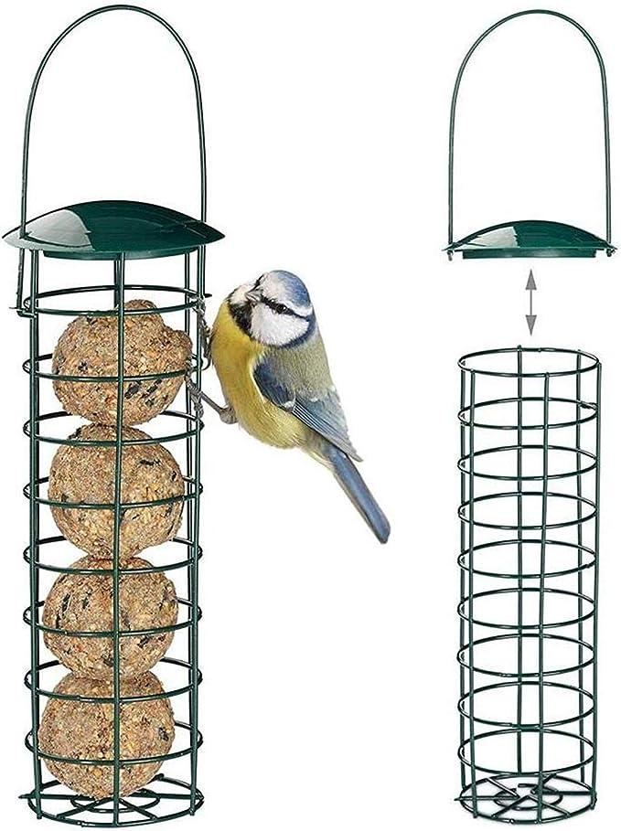 Imagen deComedero para Colgar Pájaros, Comedero de Semillas de Aves Silvestres Dispensador de Comida para Jardín al Aire Libre