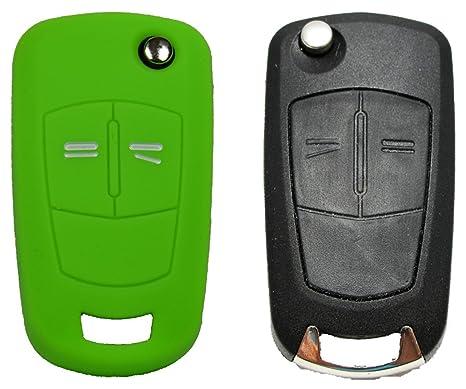 Opel Llavero de Coche 2 Botones del Control Remoto Key Case/Carcasa Protectora, llaves, Verde