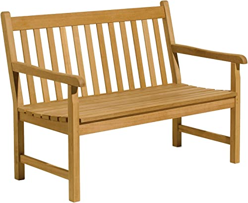 Oxford Garden – Classic Collection 4-Foot Shorea Bench 100 Tropical Shorea Hardwood Outdoor Furniture