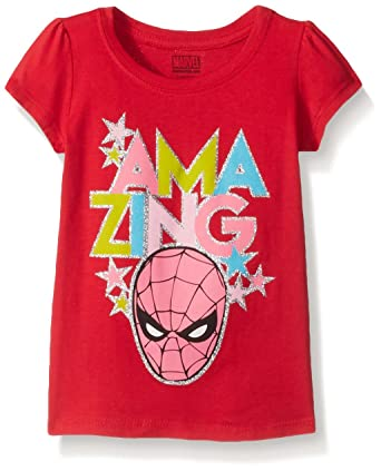 Amazon.com: Marvel Girls' Spiderman T-Shirt: Clothing