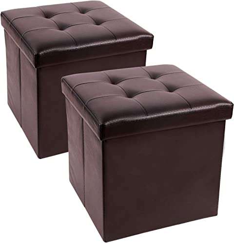 REDCAMP 15x15x15 Inches Cube Ottoman Set of 2