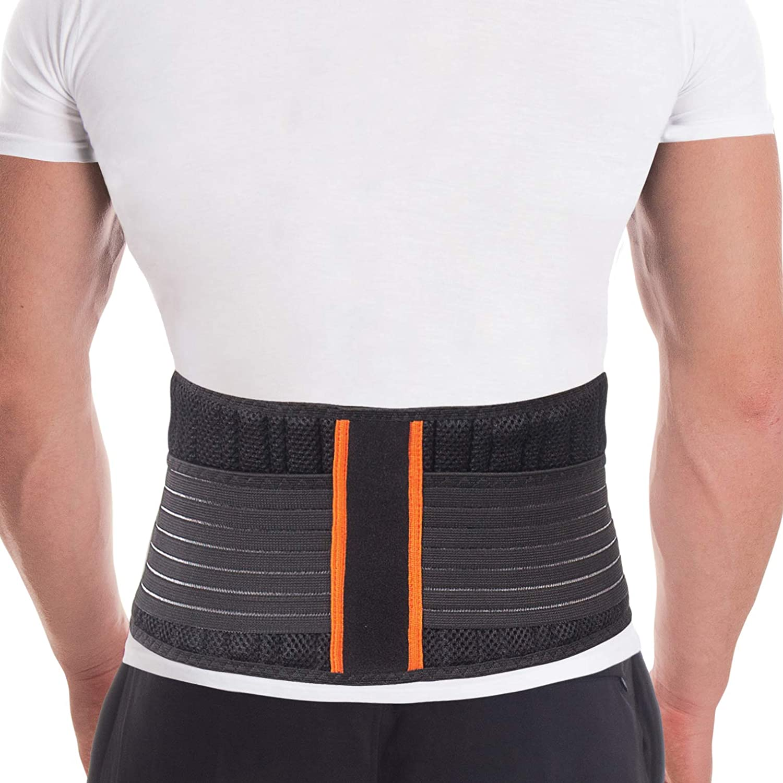 Faja de sujeción lumbar; Cinturon Lumbar Ajustable; 8 insertos de apoyo; 18 cm de altura Large