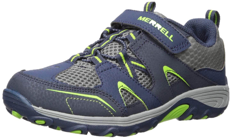 Merrell Boys' Trail Chaser Sneaker, Navy/Green,2.0 Medium US Little Kid