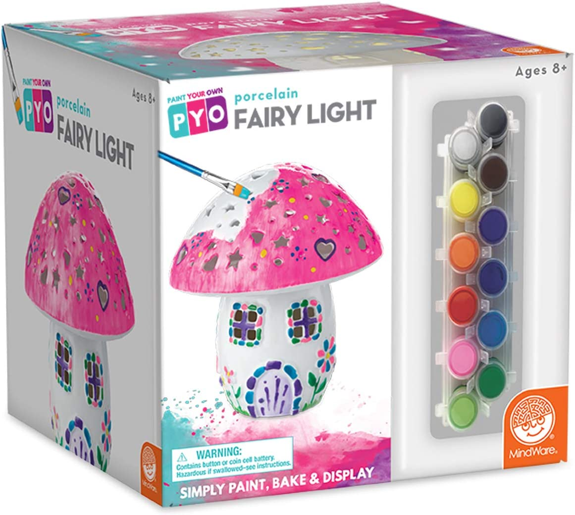MindWare Paint Your Own Porcelain: Fairy Light with Tea Light