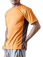 ティーシャツドットエスティー Tシャツ ドライ 半袖 ツートンカラー UVカット 4.4oz メンズ