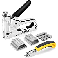 AECCN Grapadora Manual 3 en 1 con 2100 Grapas - Grapadora para Uso Serie (Incluye Extractor Grapas) para tapicería…