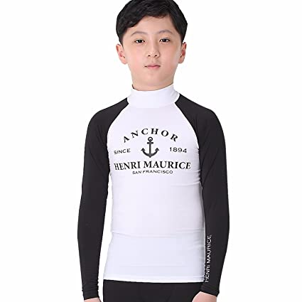 8700f1e88f 99.9% UV Sun Protection Rash Guard Kids Boys Youth Long Sleeve Shirts  Swimsuits Wetsuits for Surf Surfing Swim Beach in Summer - No Skin  Irritation Mock ...