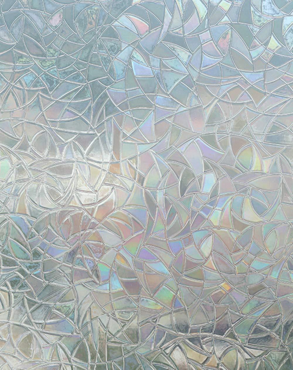 Película Decorativa de Vidrio. Se coloca sin Pegamento