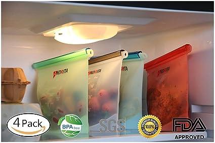 Bolsas de silicona reutilizables sin BPA hermético para ...