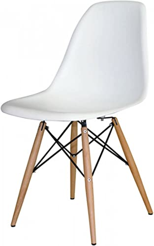 Mid Mod Wares White Mid Century Modern Dining Chairs 4 Pack