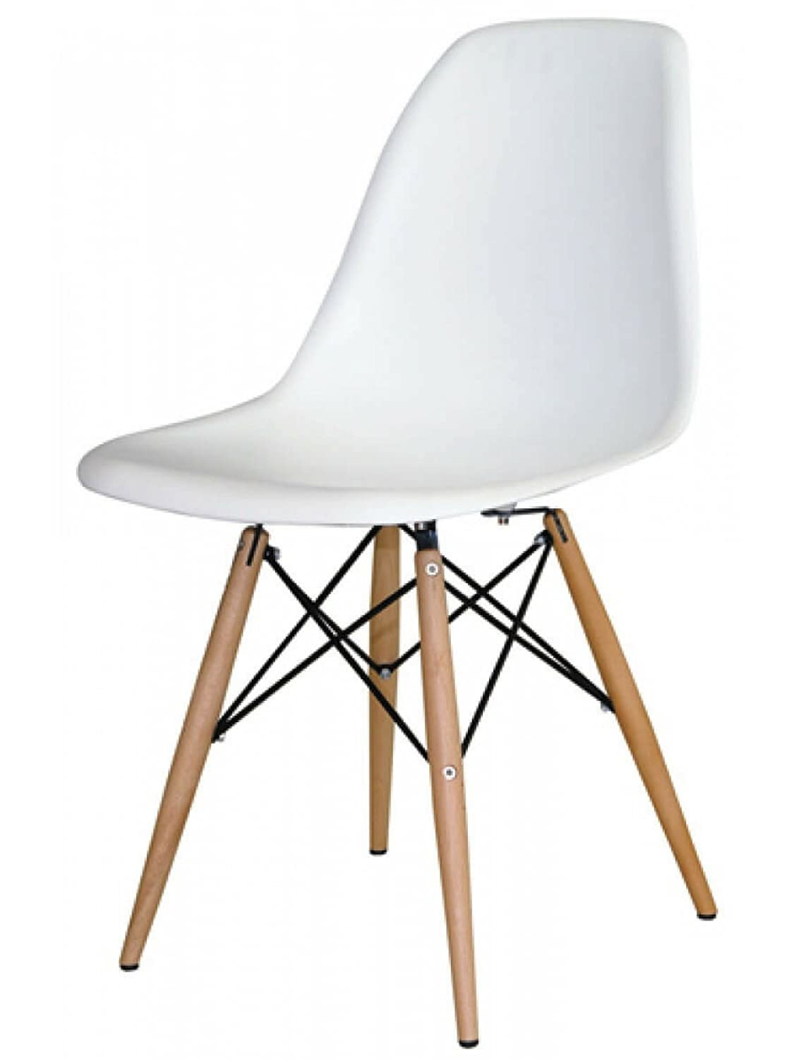 Awesome Amazon.com   Mid Century Modern Eames Style Chairs 4 Pack (White)   Chairs