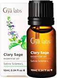 Gya Labs Clary Sage Essential Oil For Stress Relief, Sleep & Mood Balance - Topical Use For Hair Growth & Dandruff…