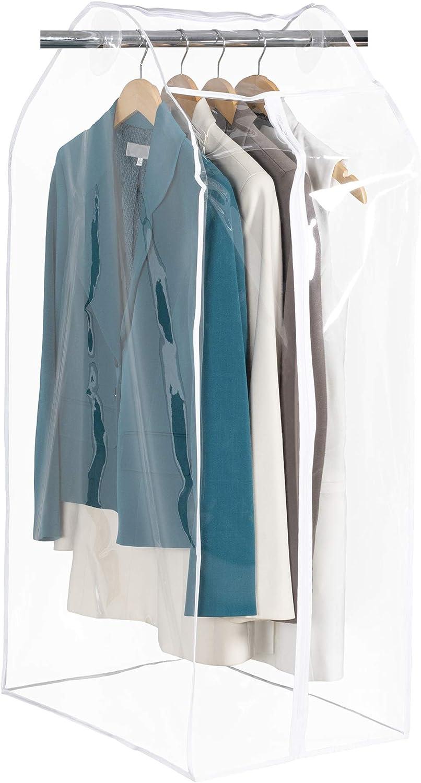 160 cm//180 cm//200 cm Sac de rangement pour v/êtements Housse de protection anti-mites Lavable Transparent Sacs pour v/êtements longs Costumes Robes Manteaux CHENSTAR Housse de v/êtements