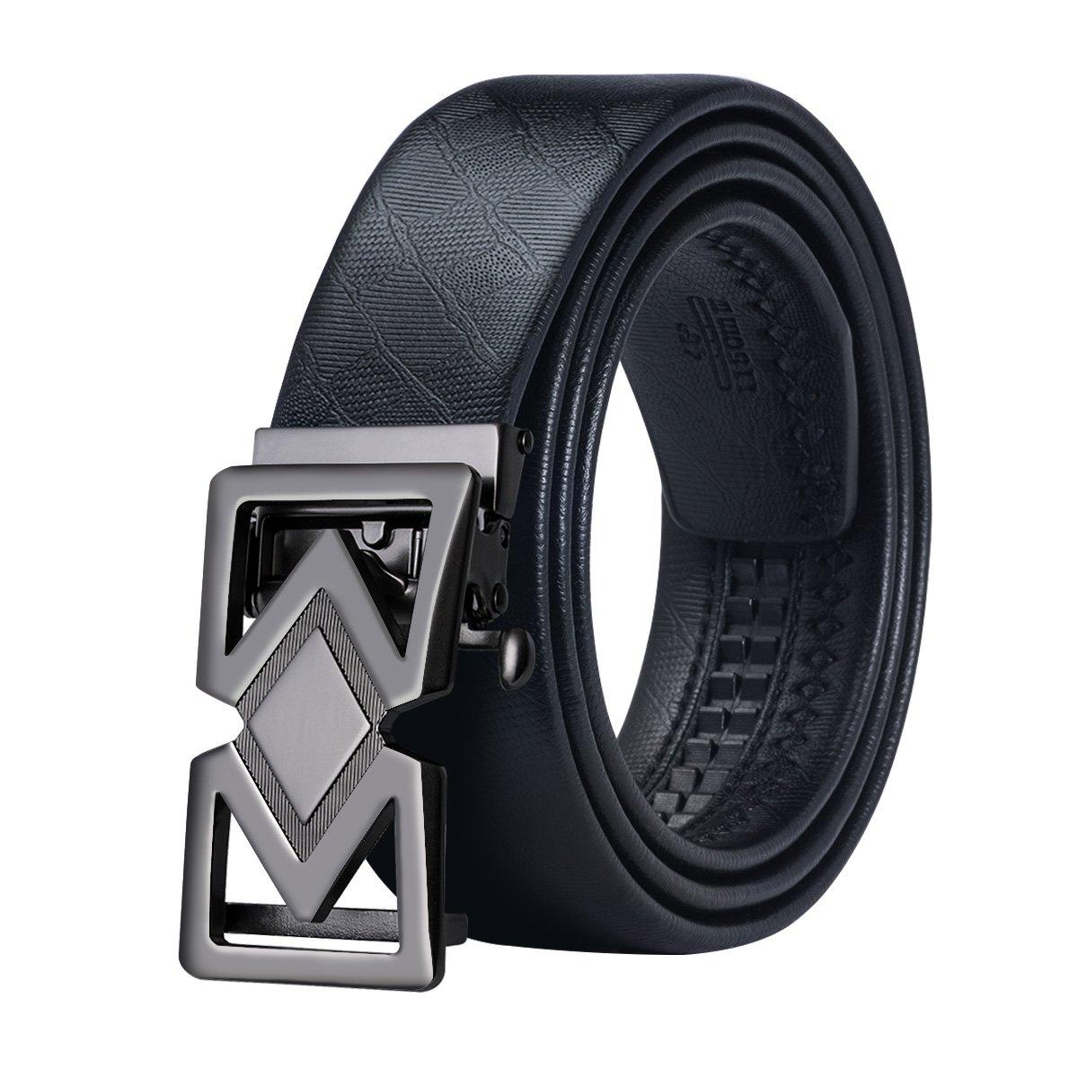 DiBanGu ベルト ビジネス メンズ 黒 自動 バックル ベルト 本革 ベルト メンズ 革 ロング B078Z9Z8V7 60inches(150cm)|Black 2 Black 2 60inches(150cm)