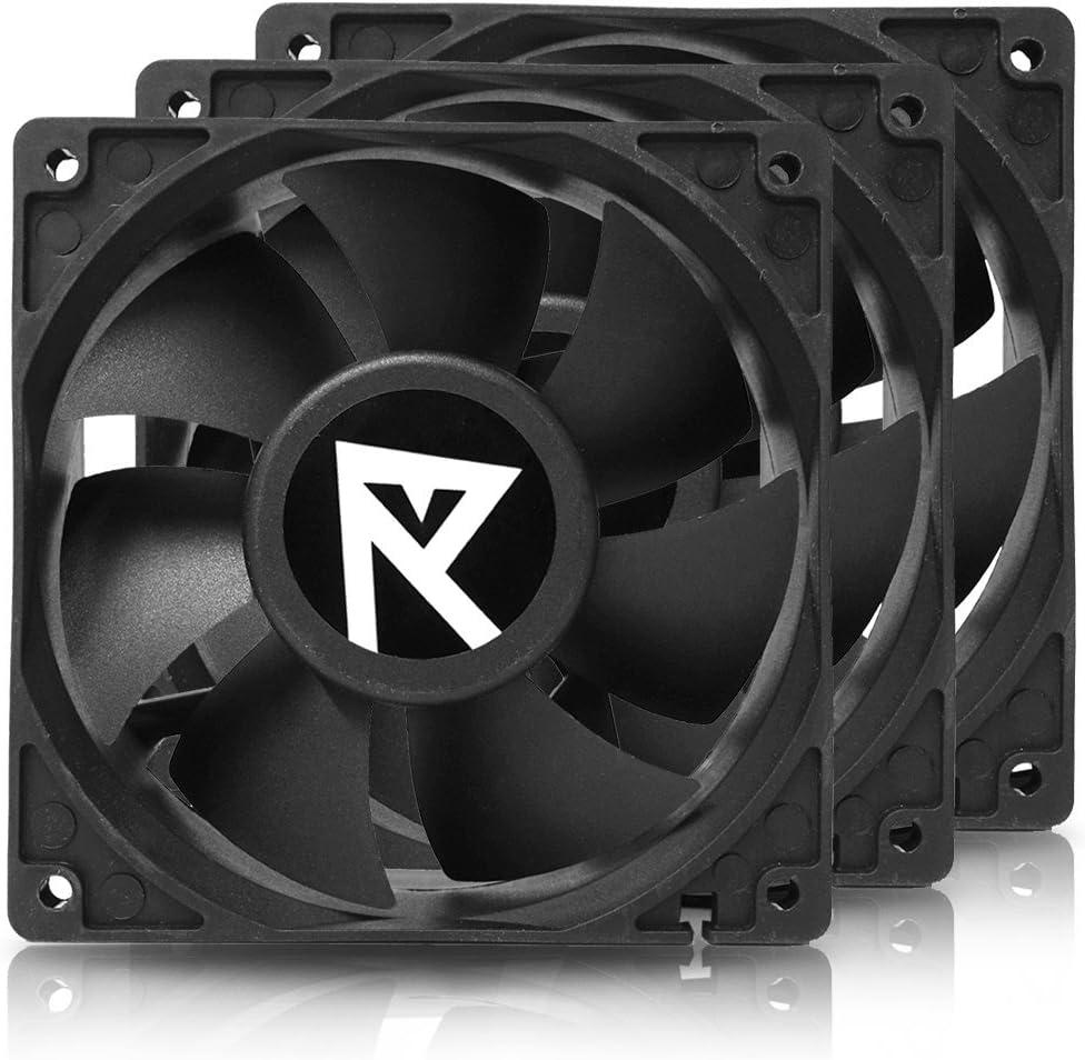Nanoxia Hydra 120mm 4200rpm High Speed Fan for GPU Mining Rig Servers, 3 Pack