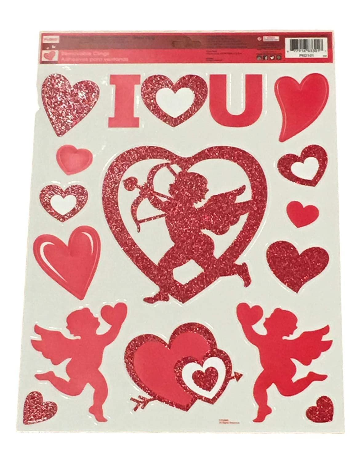 Valentines Day Themed Window Clings Plum Nellies Treasures Valentines Window Decals Glitter Kisses Love /& Cupid Plum Nellie/'s Treasure/'s Valentines Day Window Conversation Hearts Cupid I Love You