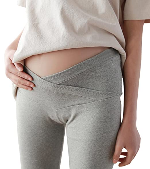 3bf4ebabf4aaf Amazon.com: Foucome Spring Summer V- Shape Ankle Length Maternity Leggings  Under The Belly for Pregnant Woman: Clothing