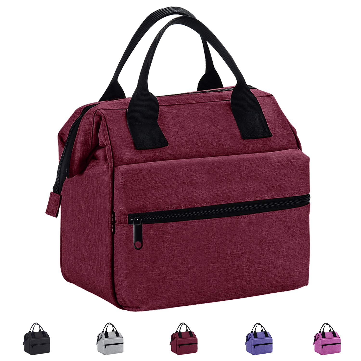 Srise Lunch Box Insulated Lunch Bag For Men &Women Meal Prep Lunch Tote Boxes For Kids & Adults(Wine Red) by Srise