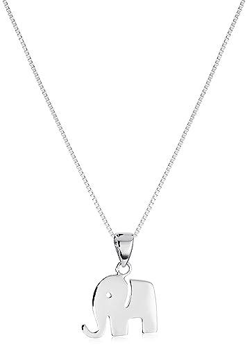 Amazon 14k white gold elephant pendant necklace charm 18 jewelry 14k white gold elephant pendant necklace charm 18quot aloadofball Images