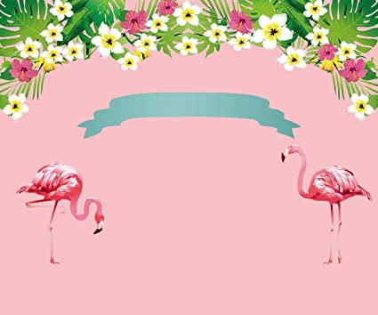 fbef7f63e5c38 HUAYI 6.5x5ft Pink Girls Flamingo Backdrop Flower Floral Background  Children Baby Birthday Party Banner Dessert