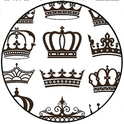 Amazon Short Plush Round Carpet King Symbol Of Royalty Jewel