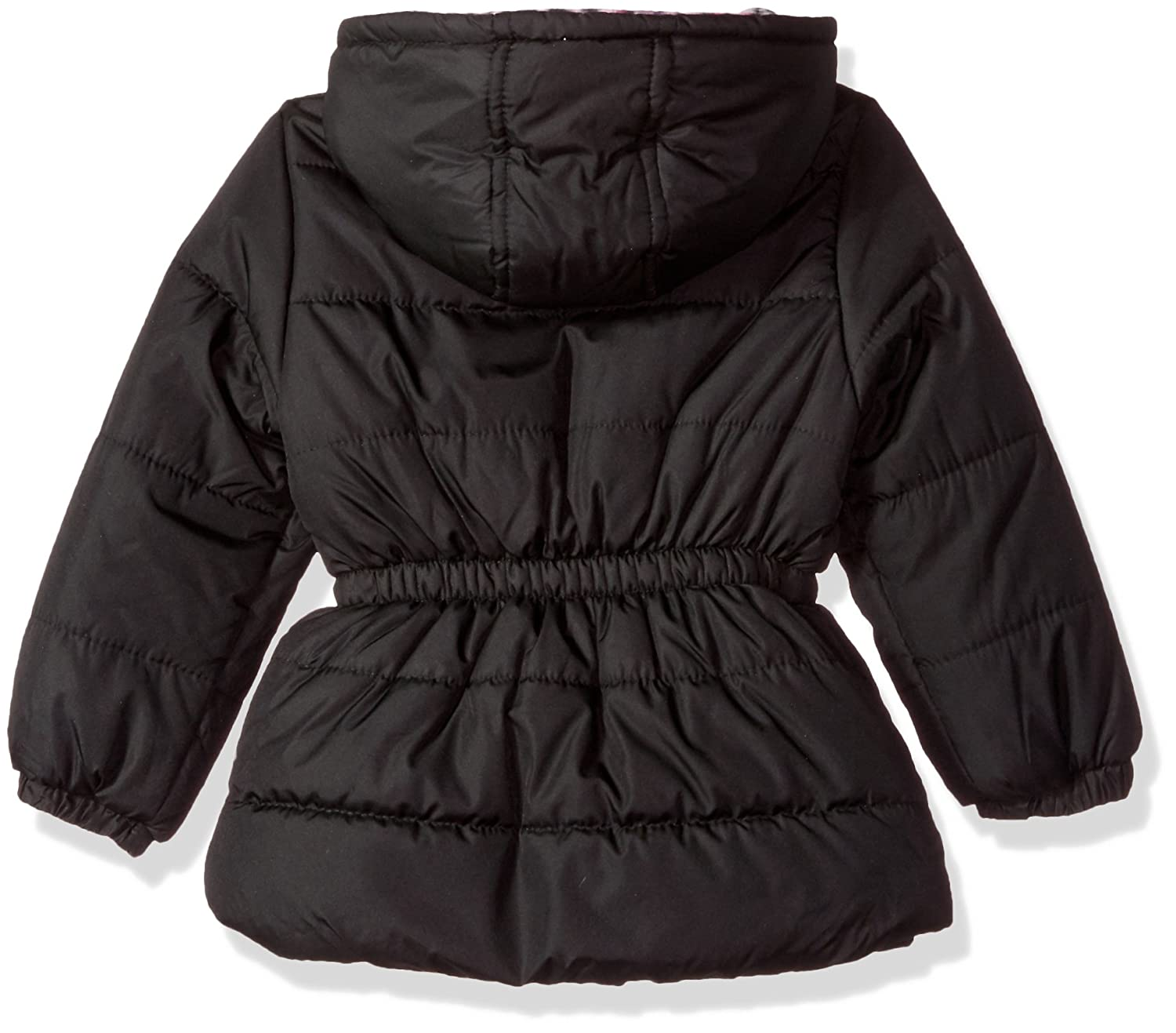 Pink Platinum Girls Quilted Puffer with Hat and Scarf Down Alternative Coat