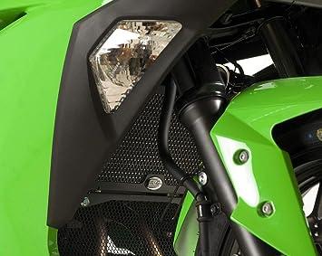 Black R/&G Radiator Guard For Kawasaki Ninja 250 08-12 /& Ninja 300 13-17