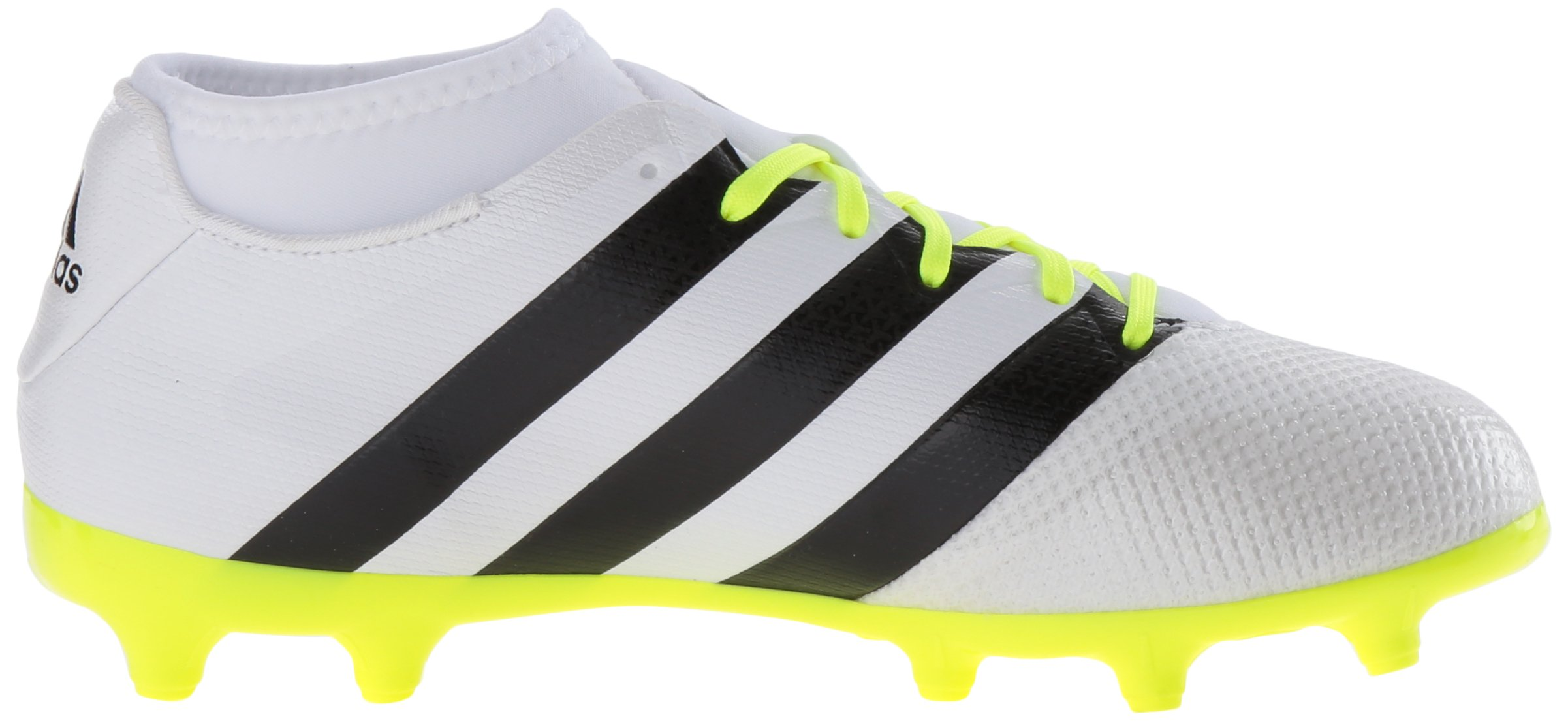 adidas Women's Ace 16.3 Primemesh FG/AG W Soccer Shoe, White/Black/Electricity, 9 M US by adidas (Image #7)