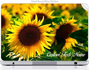 Moonlight4225 Custom Personalized Laptop Notebook Skin Sticker Vinyl Decal Cover Art Yellow Sunflower Flower Springtime Summertime (15.6 Inch)