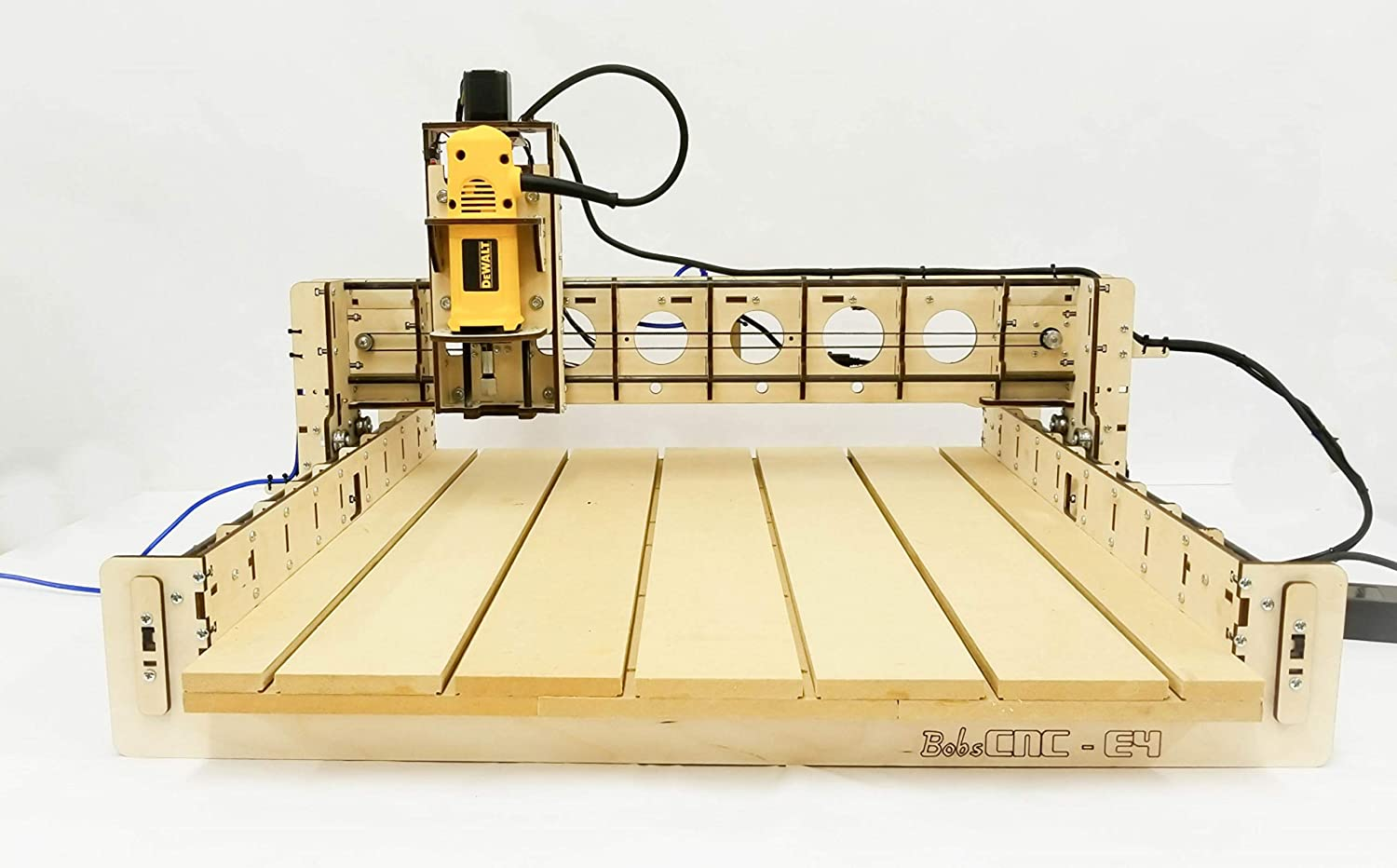 BobsCNC E4 CNC Router Engraver Kit with the Router Included 610 mm x 610 mm cutting area and 85mm depth of travel