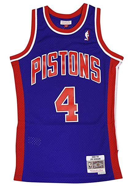 Mitchell & Ness Detroit Pistons Joe Dumars Swingman Jersey NBA Throwback Blue (Small)