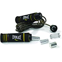 Everlast DWEQ128270 Cable Weighted Jump Rope, Black