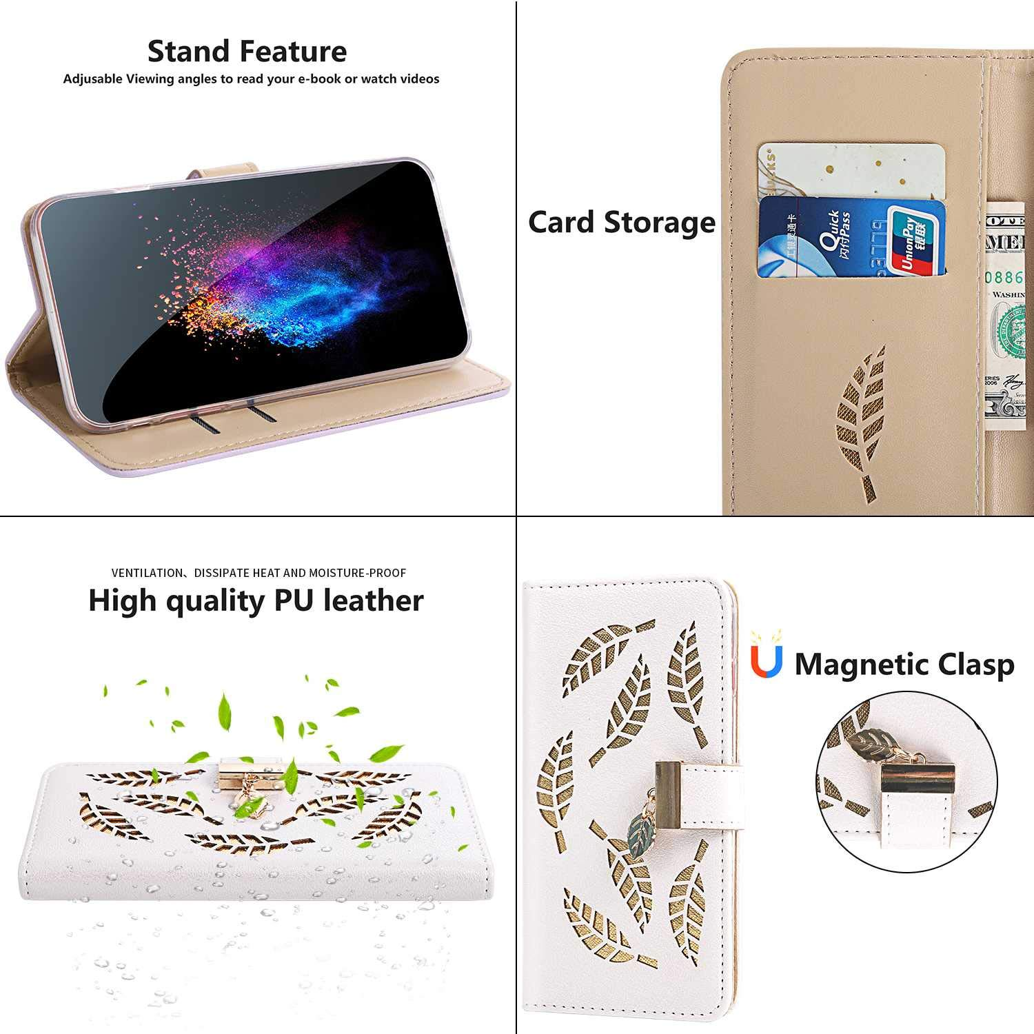 CUSKING Magnetic Wallet iPhone 7 // iPhone 8 Case Book Style Full Body Protective Case PU Leather Cover for Apple iPhone 7 // iPhone 8 with Card Slot Black