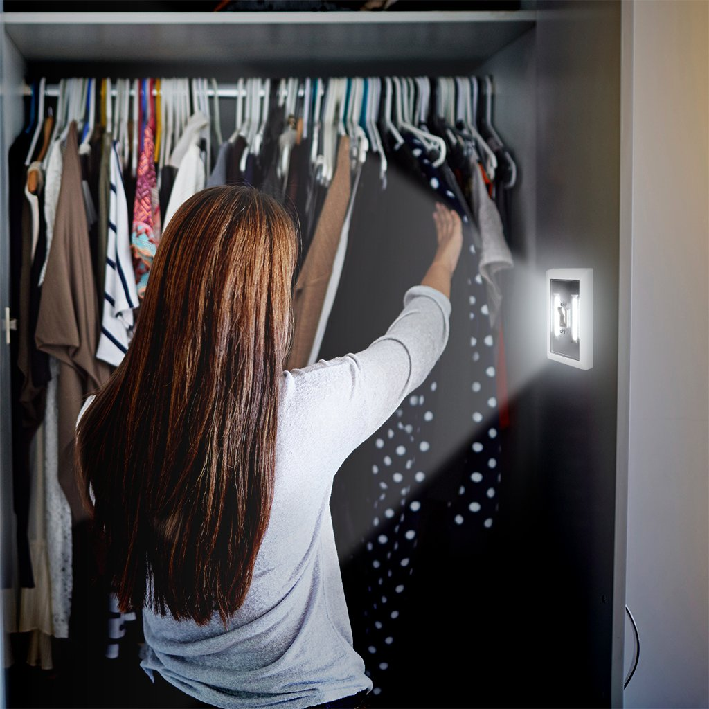 8-Pack - Super Bright Switch: Wireless Peel and Stick LED Lights - Tap Light, Touch, Night, Utility, Battery Operated, Under Cabinet, Shed, Kitchen, Garage, Basement by Super Bright (Image #4)
