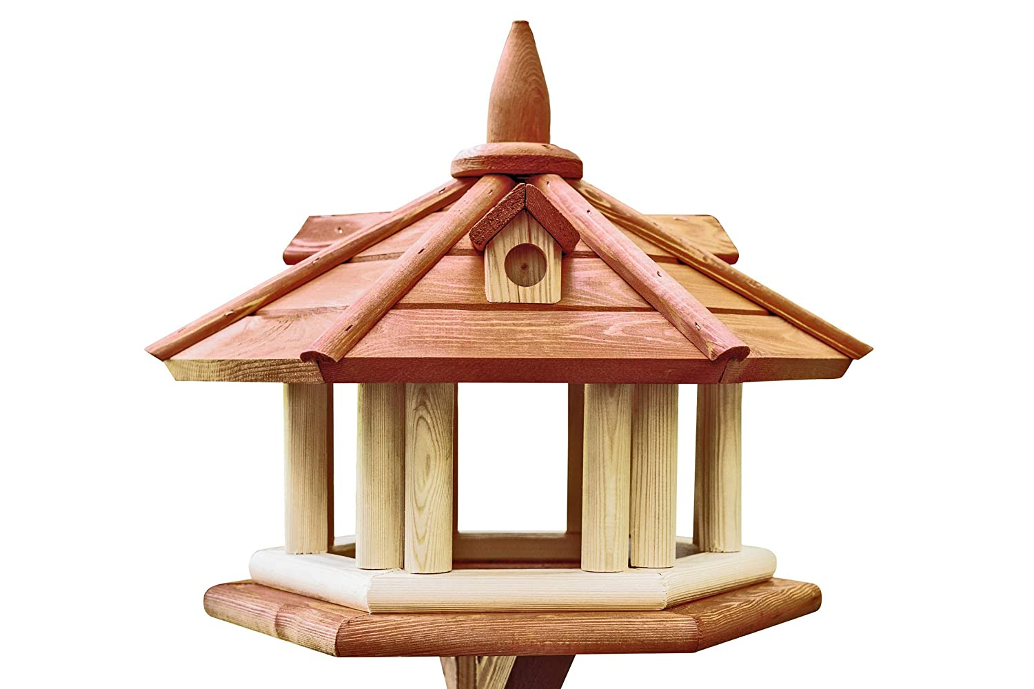 Krakwood Exclusive Wooden Bird Table House, Feeder Without a Stand