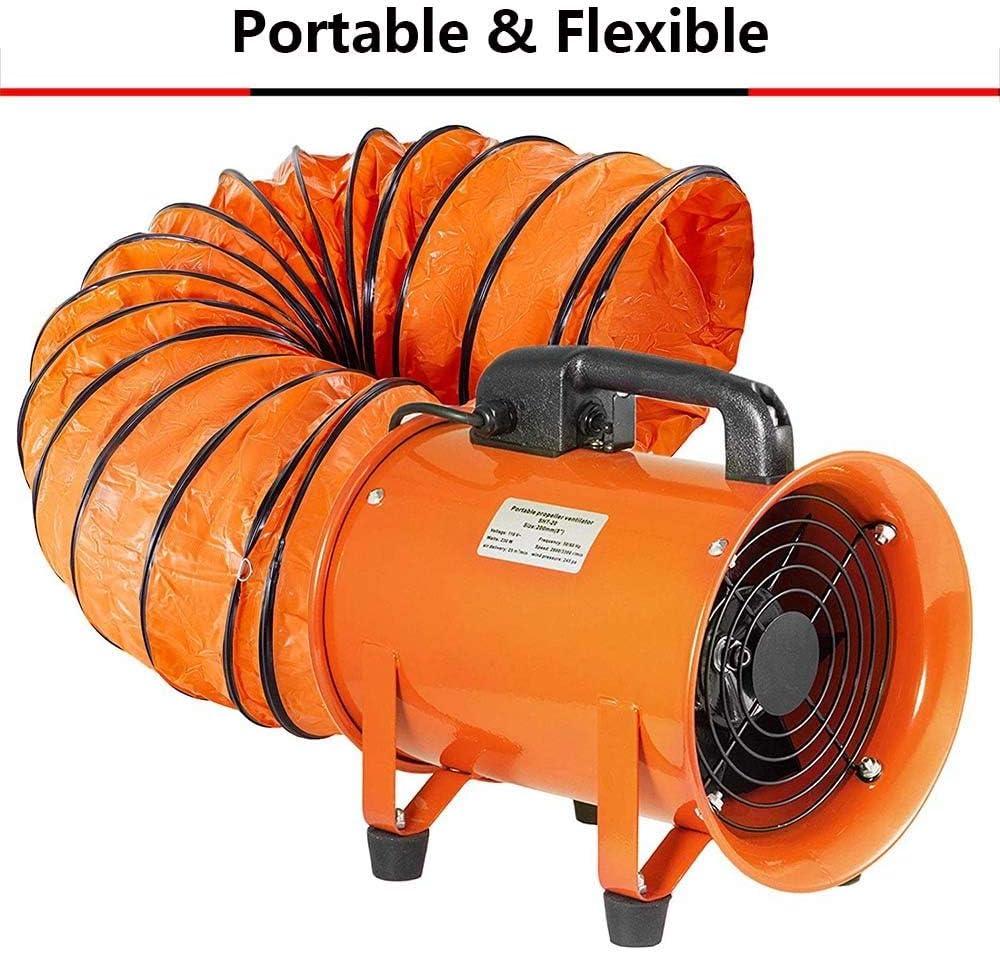 Warmluftschlauch Lufttransportschlauch Lüftungsschlauch Flammhemmend PVC Tragbar