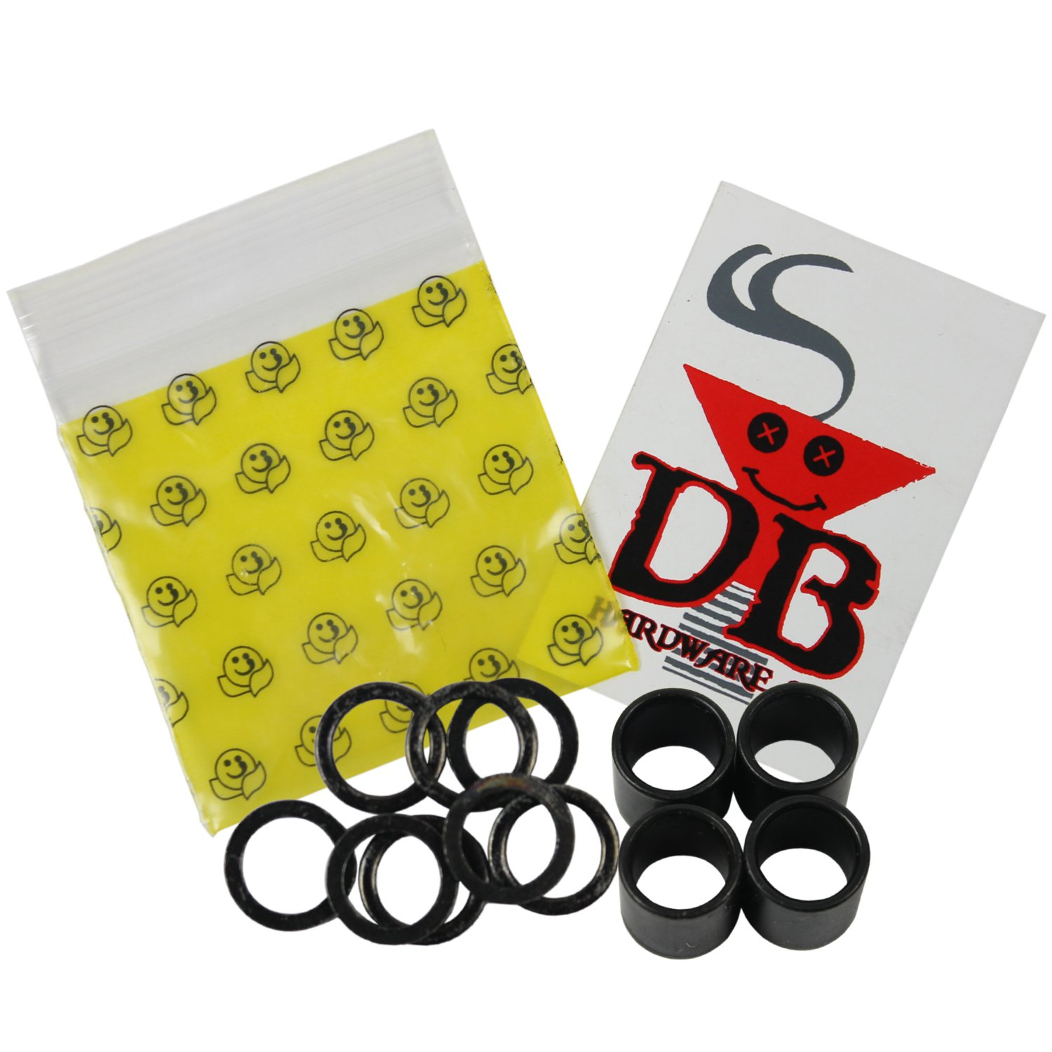 Dime Bag Hardware Skateboard Speed Kit Bearing Spacers and Speed Washers Upgrades Bearings, Trucks and Wheels DECK
