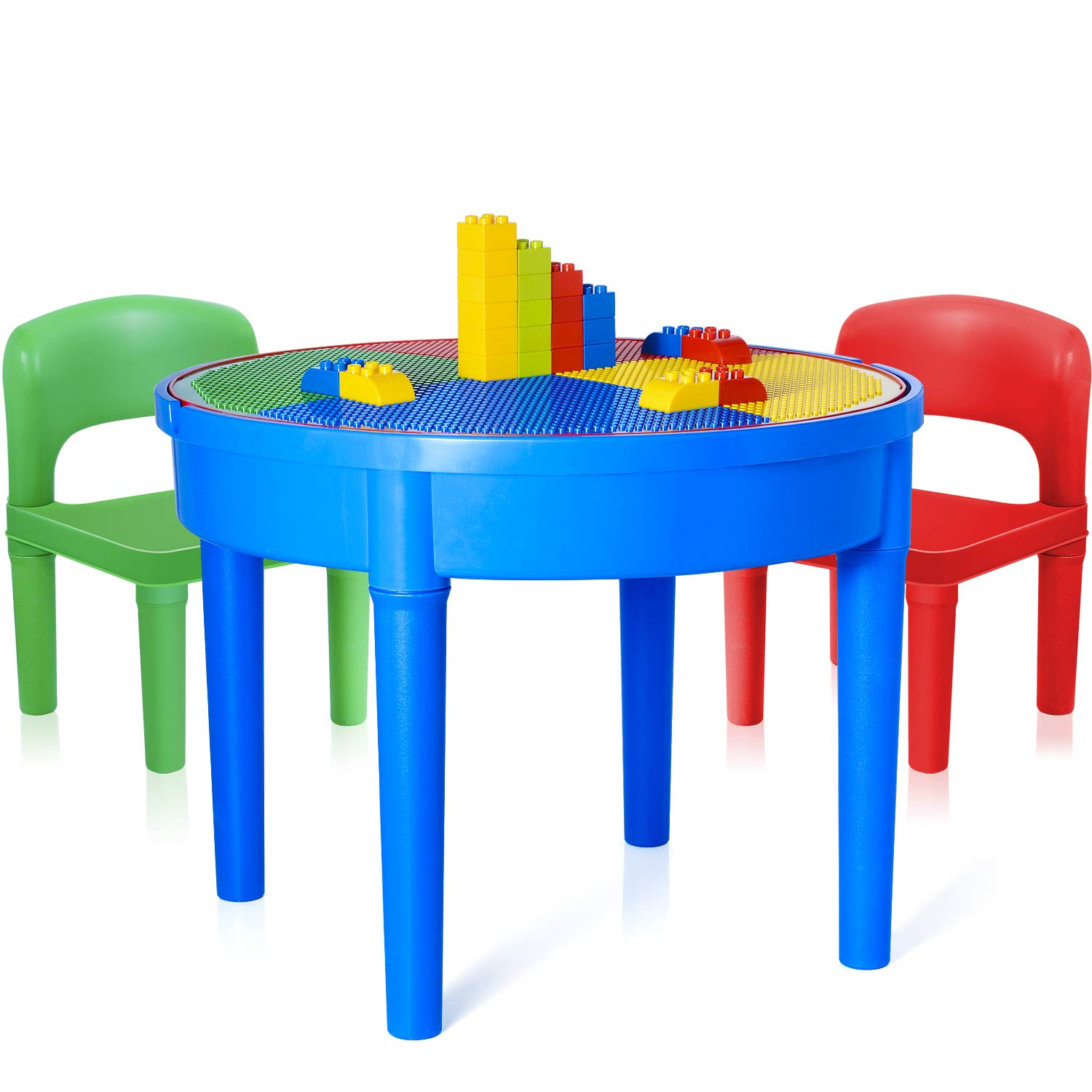 Wonderful Kids Building Bricks Base Plates 10'x10' Compatible with All Major Brands, for Play Table or Displaying 6 Pack Fei Er Ke