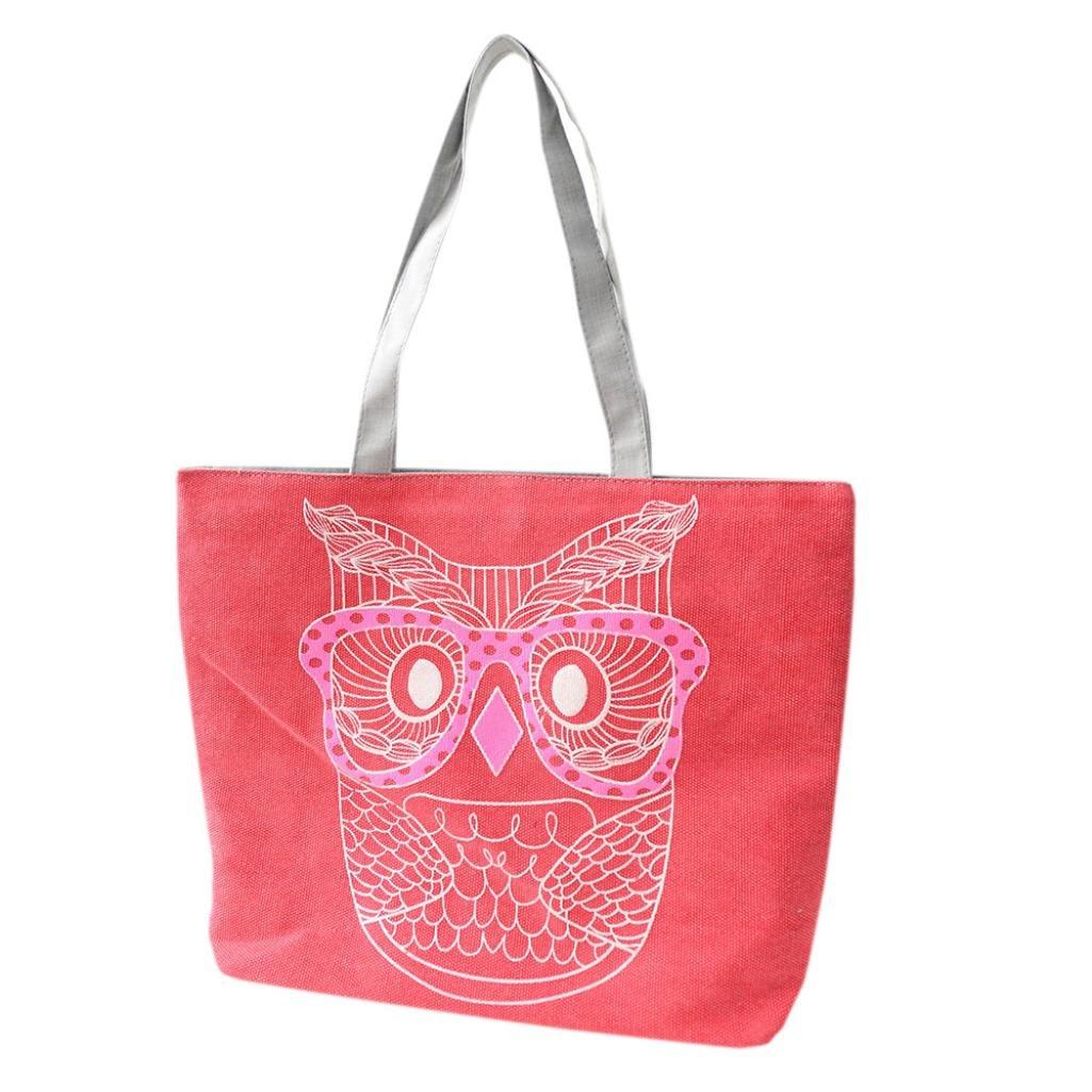 Clearance Fashion Owl Shopping Handbag Canvas Bag Tote Purse