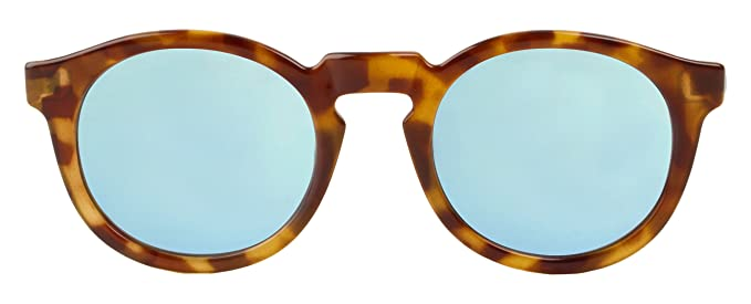 MR.BOHO, High-Contrast tortoise jordaan with sky blue lenses - Gafas De Sol unisex multicolor (carey), talla única